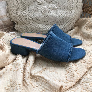 J. Crew Denim Low Heel Mules